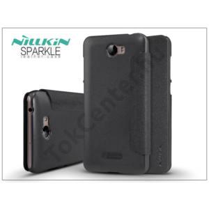 Huawei Y6 II Compact/Y5 II/ Honor 5 oldalra nyíló flipes tok - Nillkin Sparkle - fekete