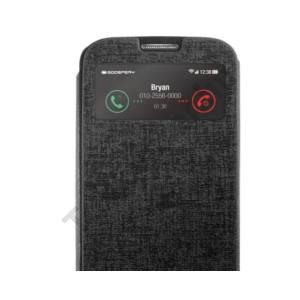 Viva Galaxy S4 hívás mutató flip cover tok,Fekete