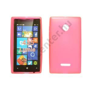 Microsoft Lumia 550 vékony szilikon hátlap,Pink