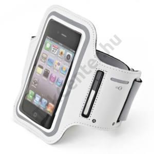 Felkarpánt, iPhone méret, L-es, univerzális,fehér