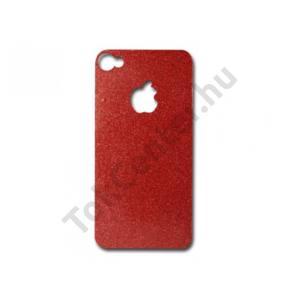 iDress iPhone 4/4S kijelzővédő+hátlap fólia, piros