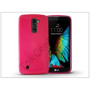 LG K10 K420N szilikon hátlap - Jelly Flash - pink