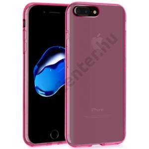 APPLE iPhone 8 Plus 5.5`` /iPhone 7 Plus vékony TPU szilikon hátlap,Pink