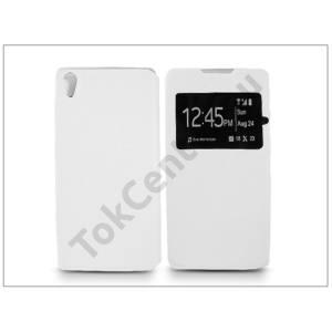 Sony Xperia Z3+/Z4 (E6553) S-View Flexi oldalra nyíló flipes tok - fehér