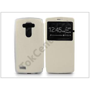 LG G4 H815 S-View Flexi oldalra nyíló flipes tok - fehér