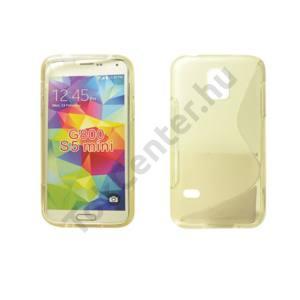 Galaxy S5 mini TPUS szilikon hátlap,Átlátszó-fehér