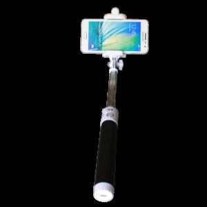 Teleszkópos Bluetooth selfie bot,univ,Fekete