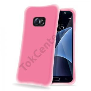 Celly Galaxy S7 ütésálló szilikon hátlap,Pink