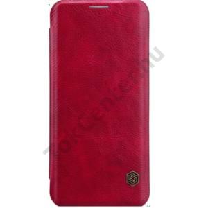 SAMSUNG Galaxy S8 Plus NILLKIN QIN tok álló, bőr (FLIP, oldalra nyíló, bankkártya tartó) PIROS