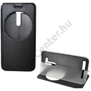 ASUS Zenfone Go (ZB452KG) Tok álló, bőr (FLIP, oldalra nyíló, asztali tartó funkció, S-View Cover) FEKETE