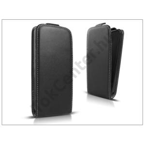 Slim Flexi Flip bőrtok - Samsung J320F Galaxy J3 (2016) - fekete