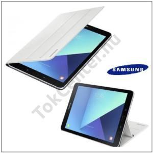 SAMSUNG Galaxy Tab S3 9.7 LTE (SM-T825)/ S3 9.7 WIFI (SM-T820) GYÁRI Műanyag telefonvédő (FLIP, oldalra nyíló, asztali tartó funkció) FEHÉR