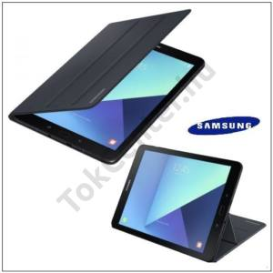 SAMSUNG Galaxy Tab S3 9.7 LTE (SM-T825)/ S3 9.7 WIFI (SM-T820) GYÁRI Műanyag telefonvédő (FLIP, oldalra nyíló, asztali tartó funkció) FEKETE