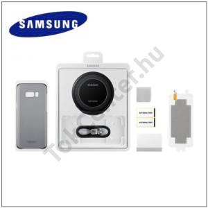 SAMSUNG Galaxy S8 (SM-G950) Kezdőcsomag (EP-NG930 vezeték nélküli töltő, EF-QG950 műanyag telefonvédő, ET-FG950 2 db képernyővédő fólia)
