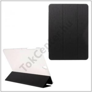 SAMSUNG Galaxy Tab S3 9.7 Tok álló, bőr (FLIP, átlátszó hátlap, oldalra nyíló, TRIFOLD asztali tartó funkció, kéregminta) FEKETE