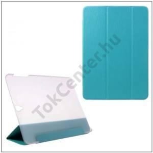 SAMSUNG Galaxy Tab S3 9.7 Tok álló, bőr (FLIP, átlátszó hátlap, oldalra nyíló, TRIFOLD asztali tartó funkció, kéregminta) KÉK