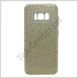 SAMSUNG Galaxy S8 Telefonvédő gumi / szilikon (műanyag belső, csillogó hátlap) ARANY