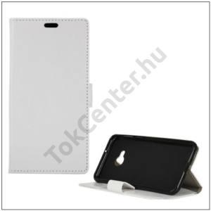 HTC U Play Tok álló, bőr (FLIP, oldalra nyíló, asztali tartó funkció) FEHÉR
