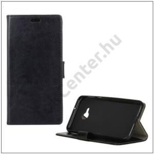 HTC U Play Tok álló, bőr (FLIP, oldalra nyíló, asztali tartó funkció) FEKETE
