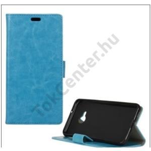 HTC U Play Tok álló, bőr (FLIP, oldalra nyíló, asztali tartó funkció) KÉK
