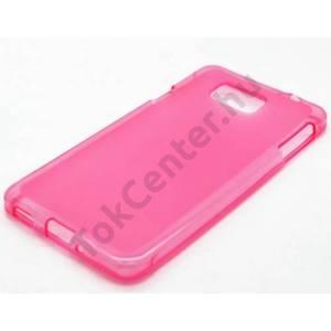 HTC U Play Telefonvédő gumi / szilikon (matt, fényes keret) RÓZSASZÍN