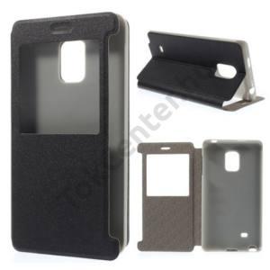 ASUS Zenfone Go (ZB500KL) Tok álló, bőr (FLIP, oldalra nyíló, asztali tartó funkció, S-View Cover) FEKETE