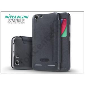 Lenovo K5/K5 Plus oldalra nyíló flipes tok - Nillkin Sparkle - fekete