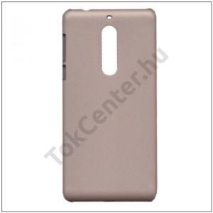 NOKIA 5 Műanyag telefonvédő gumírozott ARANY