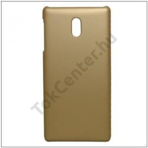 NOKIA 3 Műanyag telefonvédő gumírozott ARANY