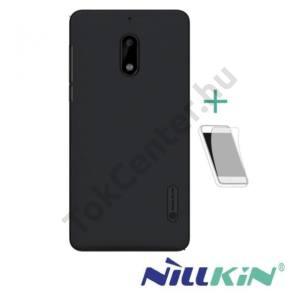 HUAWEI Honor 8 Pro NILLKIN SUPER FROSTED műanyag telefonvédő (gumírozott, érdes felület, képernyővédő fólia) FEKETE