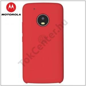 MOTOROLA Moto G5 Plus (XT1684) MOTO műanyag telefonvédő (gumírozott, képernyővédő fólia törlőkendővel) PIROSGYÁRI MOTOROLA