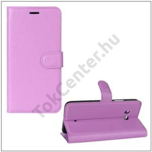 HTC U11 Tok álló, bőr (FLIP, oldalra nyíló, asztali tartó funkció) LILA