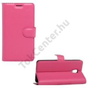 HTC U11 Tok álló, bőr (FLIP, oldalra nyíló, asztali tartó funkció) RÓZSASZÍN