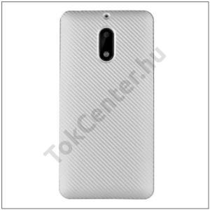 SAMSUNG Galaxy A5 (2017) (SM-A520F) Telefonvédő gumi / szilikon (karbon minta) EZÜST