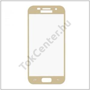 SAMSUNG Galaxy A5 (2017) (SM-A520F) ENKAY képernyővédő fólia (1 db, edzett üveg, 2.5D lekerekített szél, karcálló, 0.26mm, 9H) TEMPERED ARANY
