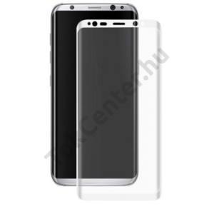 SAMSUNG Galaxy A5 (2017) (SM-A520F) Képernyővédő fólia törlőkendővel (1 db-os, 3D full cover, íves, edzett üveg, karcálló, 0.30mm, 9H) TEMPERED FEHÉR
