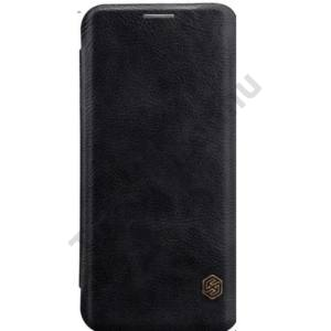 SAMSUNG Galaxy S8 NILLKIN QIN tok álló, bőr (FLIP, oldalra nyíló, bankkártya tartó) FEKETE