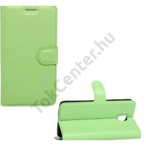 SAMSUNG Galaxy S8 (SM-G950) Tok álló, bőr (FLIP, oldalra nyíló, asztali tartó funkció) ZÖLD