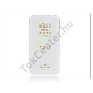 Huawei Y6 II Compact/Y5 II/Honor 5 szilikon hátlap - Ultra Slim 0,3 mm - transparent