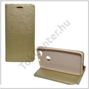 APPLE IPhone 7 /APPLE IPhone 8 4,7`` Tok álló, bőr (FLIP, oldalra nyíló, asztali tartó funkció) ARANY