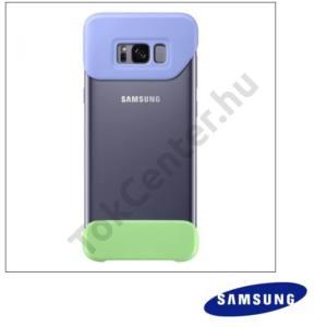 SAMSUNG Galaxy S8 (SM-G950) Műanyag telefonvédő (2 részes) LILA/ZÖLD