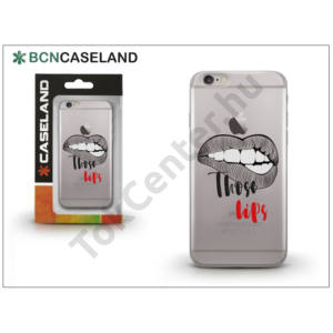 Apple iPhone 7 Plus /APPLE iPhone 8 Plus 5.5`` szilikon hátlap - BCN Caseland Those Lips - transprarent