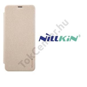 SAMSUNG Galaxy S8 (SM-G950) NILLKIN SPARKLE műanyag telefonvédő (mikroszálas bőr flip, oldalra nyíló) ARANY