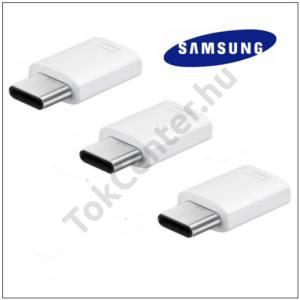 Adapter (microUSB - USB Type-C, töltéshez, adatátvitelhez, 3db) FEHÉR GYÁRI SAMSUNG