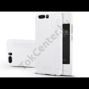 Huawei P10 Plus oldalra nyíló flipes tok - Nillkin Sparkle - fehér