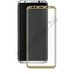 Samsung G955F Galaxy S8 Plus üveg képernyővédő fólia - 1 db/csomag (Tempered Glass) - gold - 3D FULL teljes képernyős