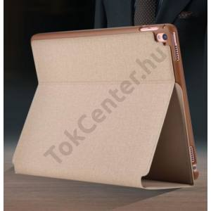 Apple iPad (2017) 9.7 védőtok (Smart Case) on/off funkcióval - Devia Flax Flip - champagne gold