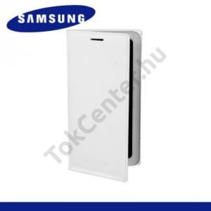 Samsung Galaxy A3 (SM-A300F) Tok álló, bőr (FLIP, akkufedél, oldalra nyíló) FEHÉR