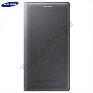 Samsung Galaxy A3 (SM-A300F) Tok álló, bőr (FLIP, akkufedél, oldalra nyíló) SZÉNFEKETE