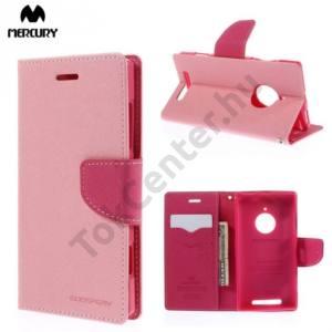 Nokia Lumia 830 MERCURY Fancy Diary tok álló, bőr (FLIP, mágneses, oldalra nyíló, bankkártya tartó, asztali tartó funkció) RÓZSASZÍN